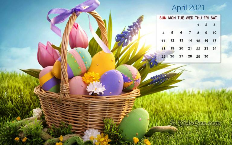 April 2021 Calendar Wallpaper with Khmer Calendar 2021 Wallpaper