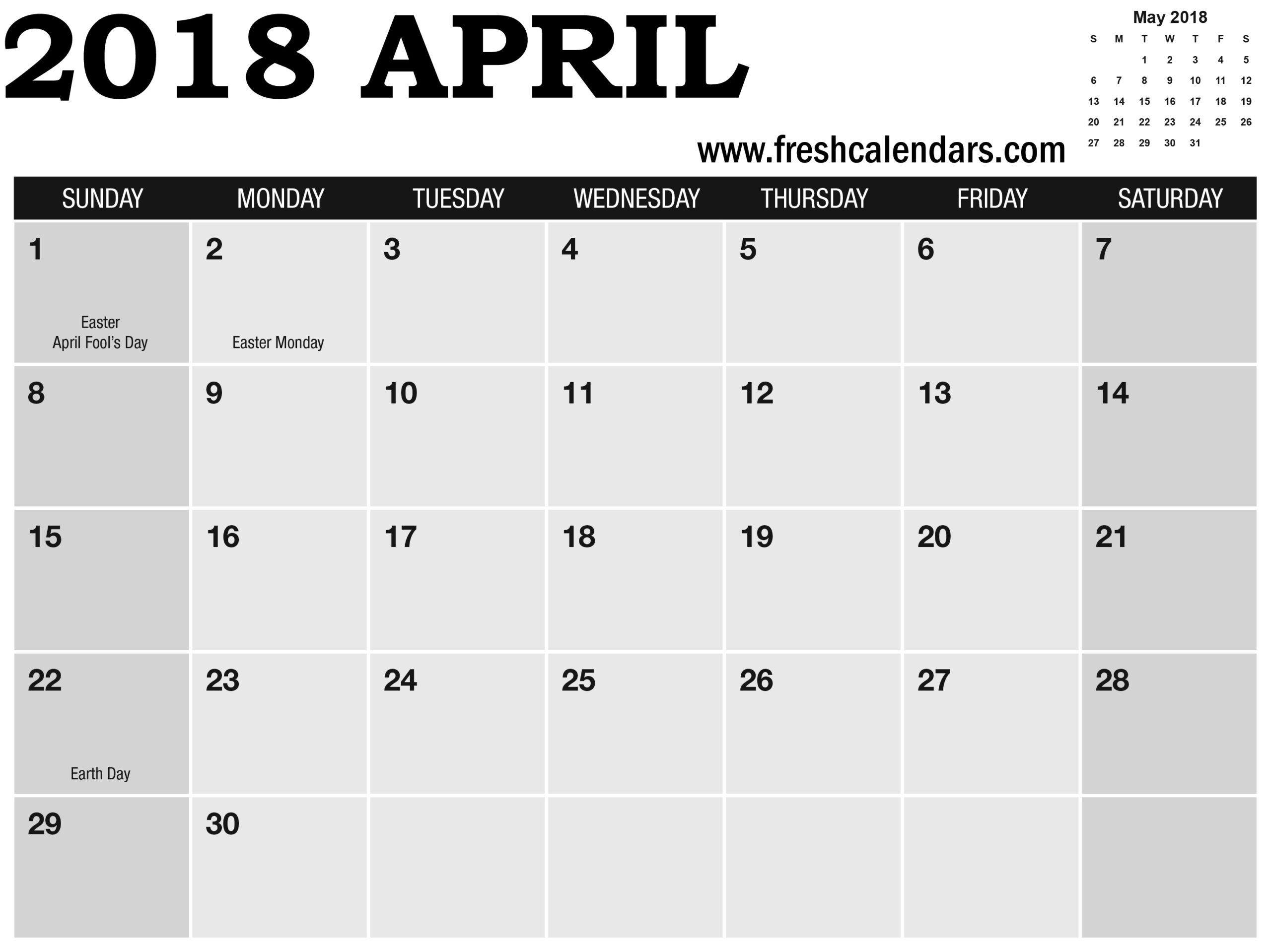 April Calendar Saturday And Sunday Highlight With May in Calendar Sunday To Saturday