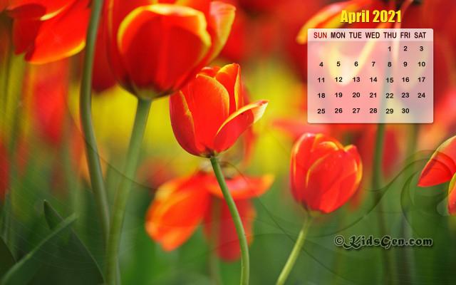 April Calendar Wallpaper  2021 inside Khmer Calendar 2021 Wallpaper