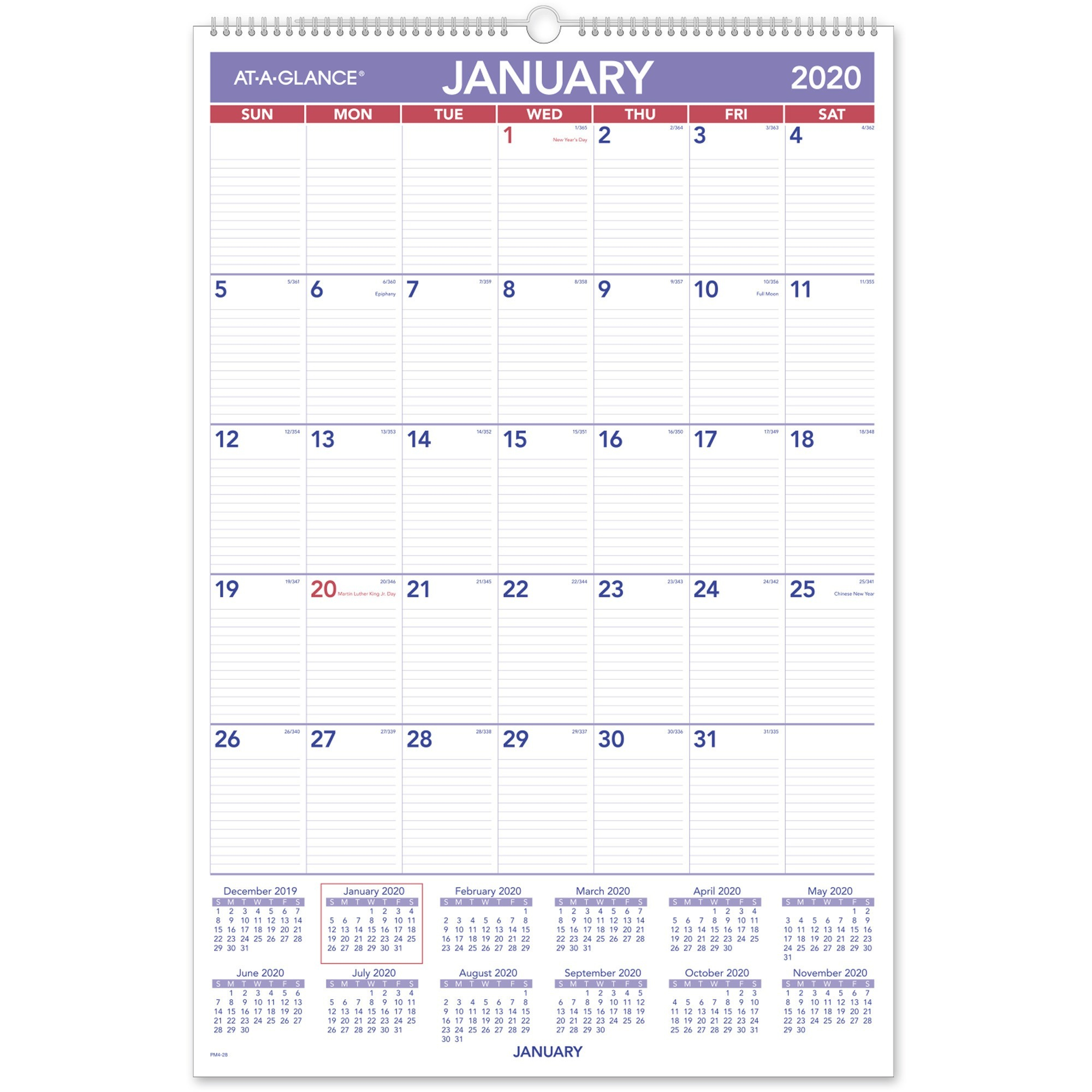 Ataglance Recycled Monthly Wall Calendar  Julian Dates with 2021 Yearly Julian Calendar