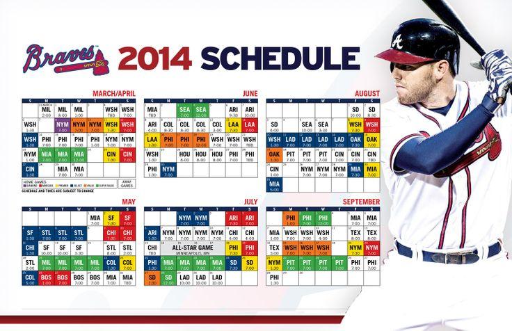 Atlanta Braves 2014 Schedule | View 2014 Schedule within Atlanta Braves Schedule Calendar