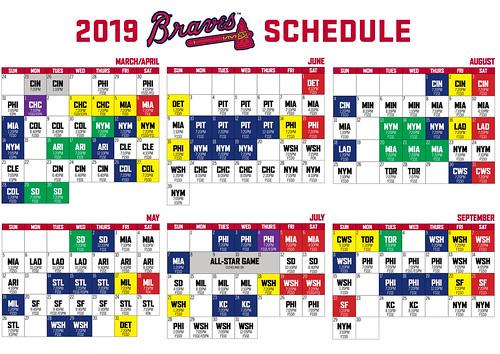 Atlanta Braves 2019 Schedule | Atlanata Braves 2019 with Atlanta Braves Schedule Calendar