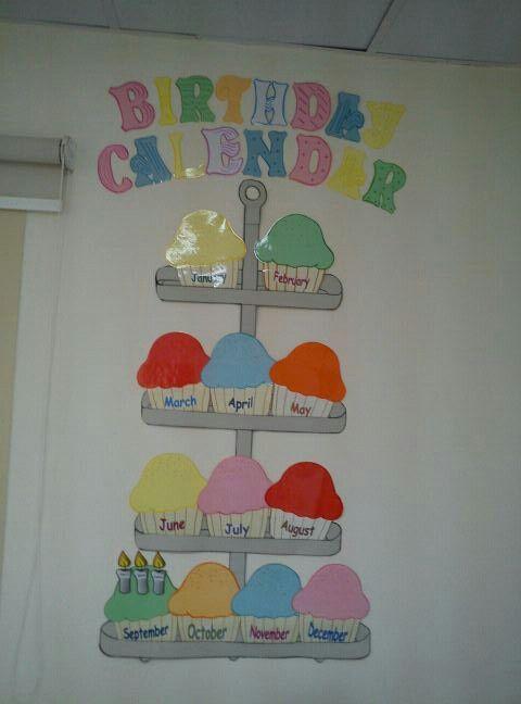 Birthday Calendar | Birthday Calendar Classroom, Classroom with Birthday Calendar Template For Classroom