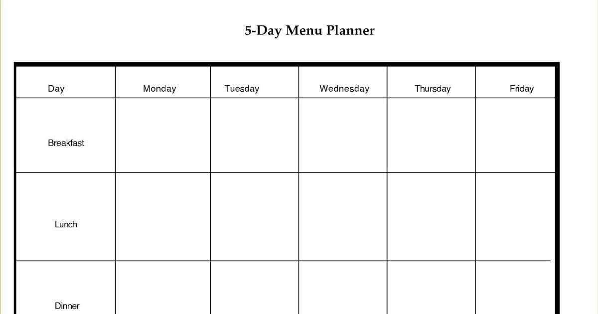 Blank 5 Day Week Calendar Blank Calendar Template Dowload pertaining to 5 Day Week Calendar Template