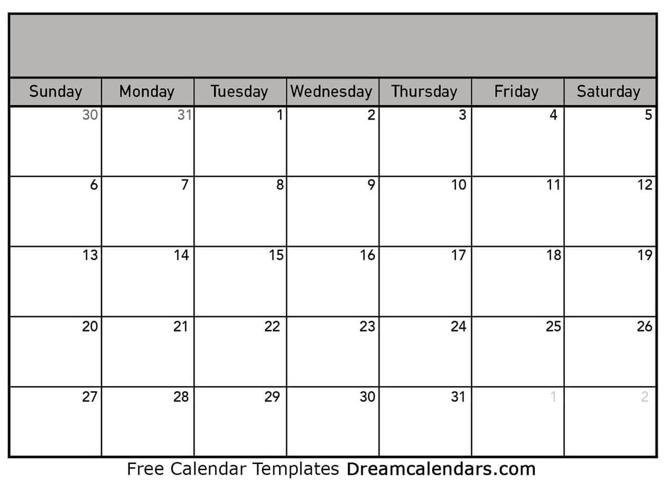Blank Calendar  Printable Blank Calendar 2021 in Blank Monthly Calendar Portrait