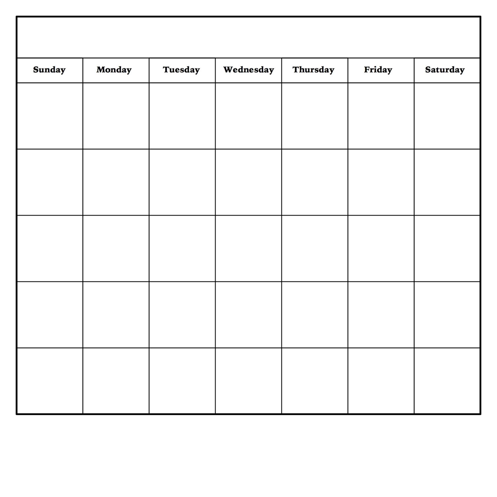 Blank Monday Through Friday Pdf | Calendar Template Printable inside Free Monday Through Friday Calendar Template