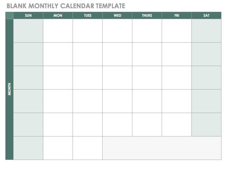 Blank Monthly Calendar Template regarding Blank Monthly Calendar With Lines
