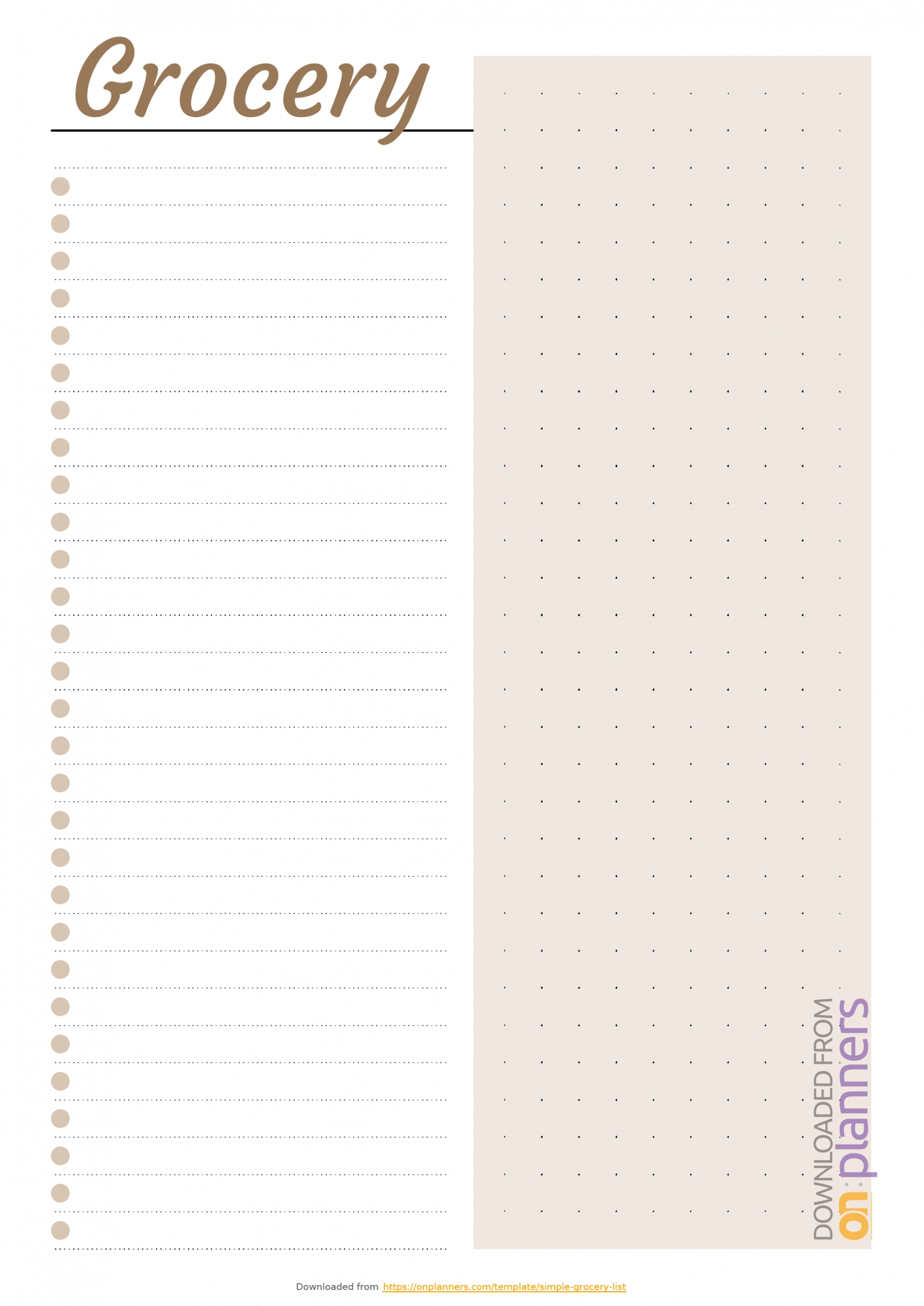 Blank Shopping List Template A4 Editable | Free Calendar in Blank Shopping List Template