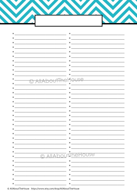 Blank Shopping List Template A4 Editable  Template in Blank Shopping List Template