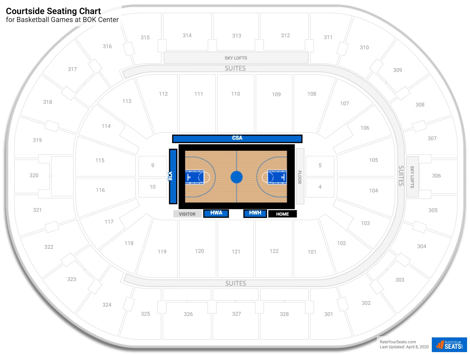 Bok Center Basketball Seating Guide  Rateyourseats throughout Bok Center Seating Chart Detailed