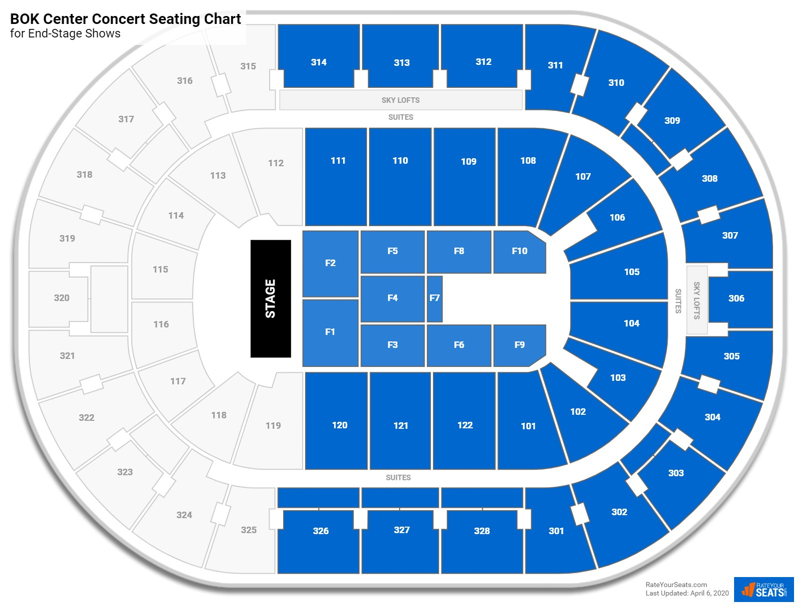 Bok Center Seating Charts For Concerts  Rateyourseats with Bok Center Seating Chart Detailed