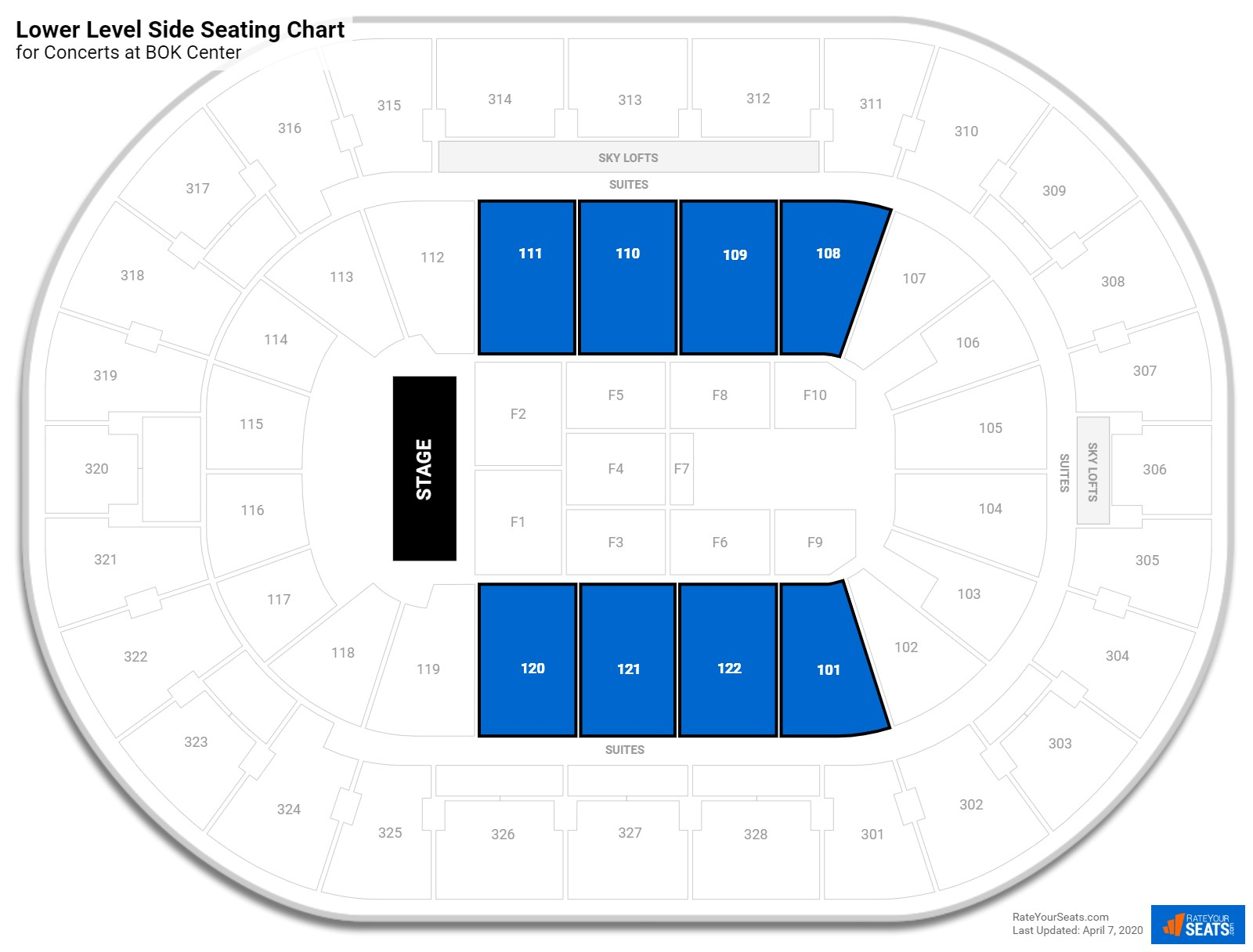Bok Center Seating For Concerts  Rateyourseats in Bok Center Seating Chart Detailed