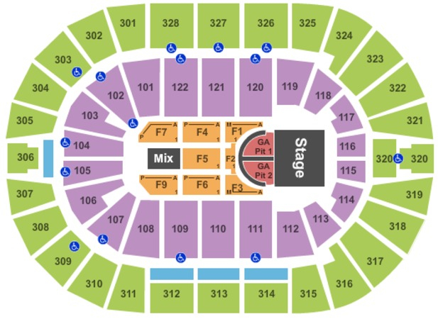 Bok Center Tickets In Tulsa Oklahoma, Bok Center Seating for Bok Center Seating Chart Detailed