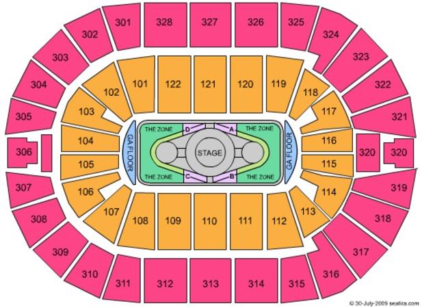 Bok Center Tickets In Tulsa Oklahoma, Bok Center Seating in Bok Center Seating Chart Detailed