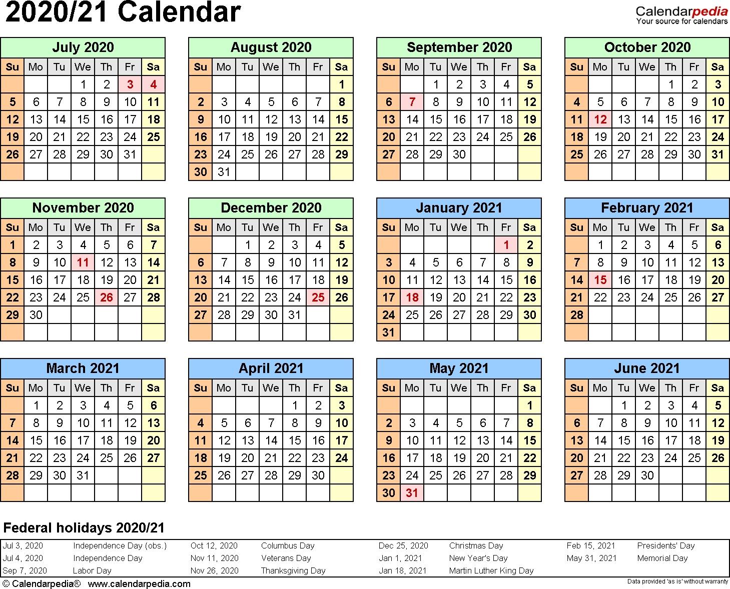Calendar 2020 Half Year | Calendar Printables Free Templates intended for Financial Calendar 2021/21 Excel