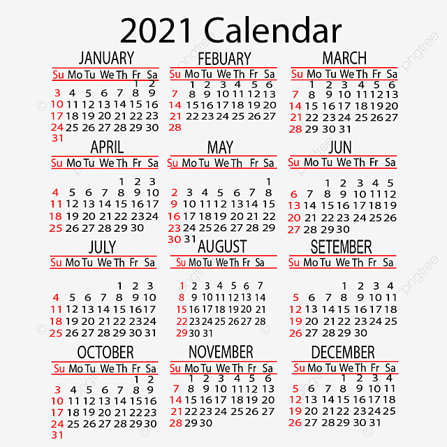 Calendar 2021 Yearly Vector Design, 2021, Calendar, Year for 2021 Calendar Hong Kong