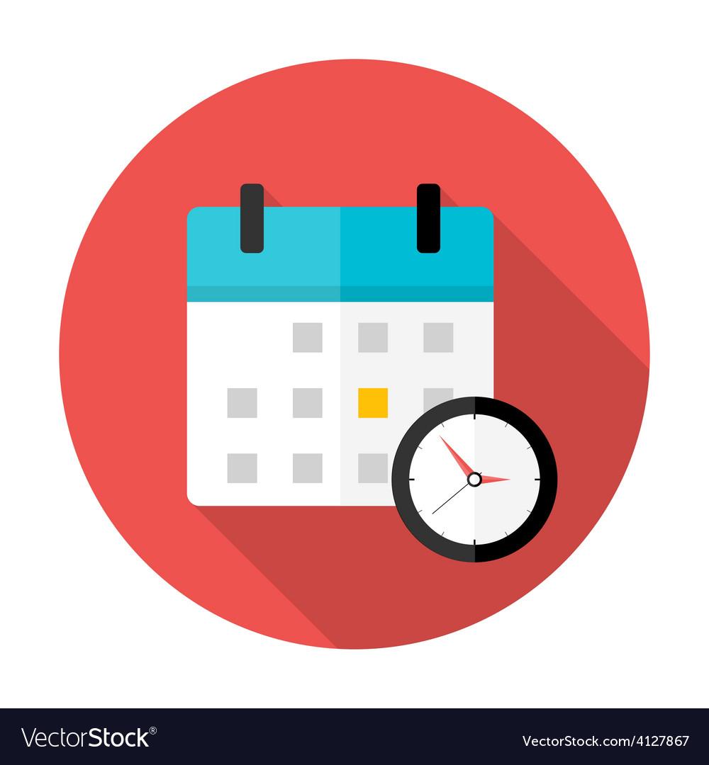 Calendar And Clock Time Circle Icon Royalty Free Vector with Google Calendar Icon Vector