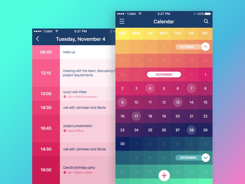 Calendar App By Ludmila Shevchenko For Tubik On Dribbble inside Calendar Icon Material Ui