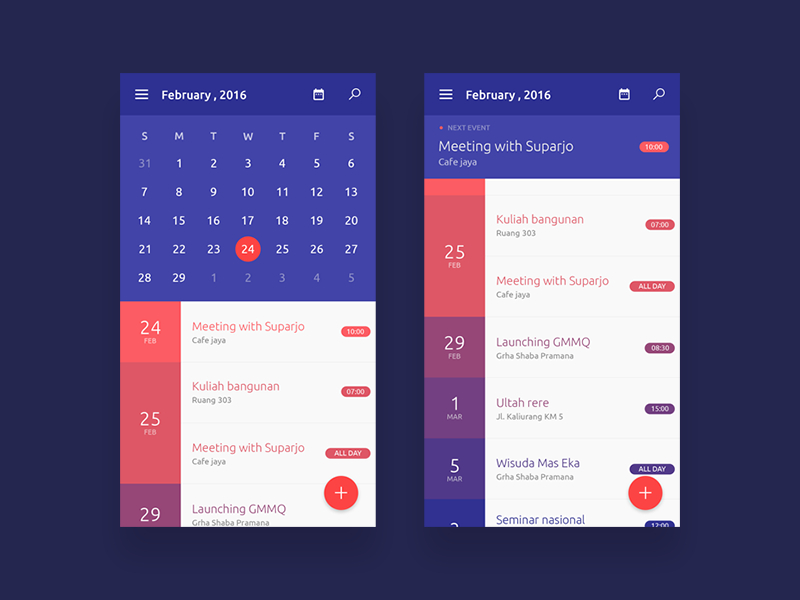 Calendar Apps By Mohammad Hafidz On Dribbble pertaining to Calendar Icon Material Ui