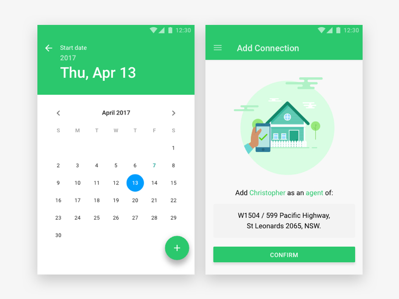 Calendar & Confirmation Material Design For Android By for Calendar Icon Material Ui