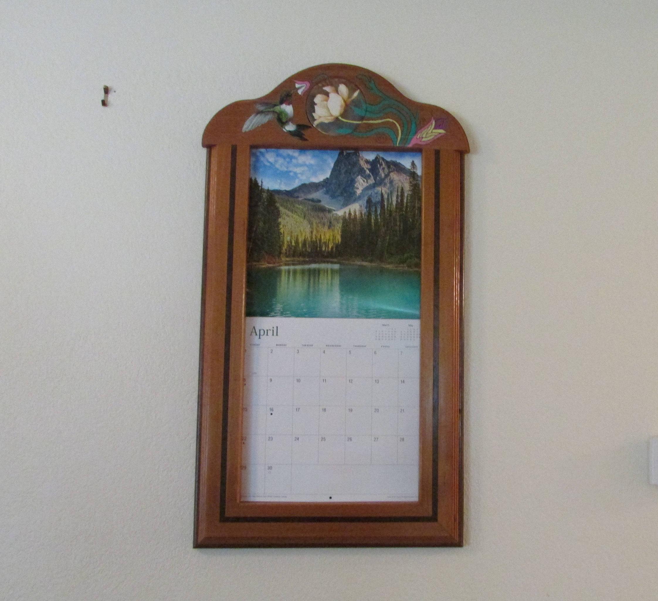 Calendar Frame Calendar Holder Holder For Calendar Framed throughout Calendar Frames And Holders
