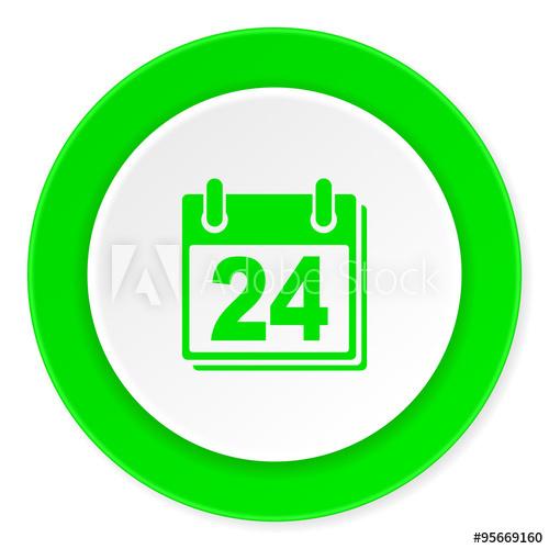 """Calendar Green Fresh Circle 3D Modern Flat Design Icon On with Calendar Circle Icon"