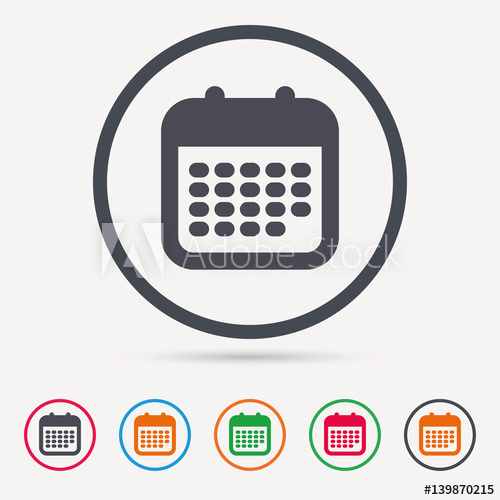 """""""Calendar Icon. Events Reminder Symbol. Round Circle intended for Calendar Circle Icon"""