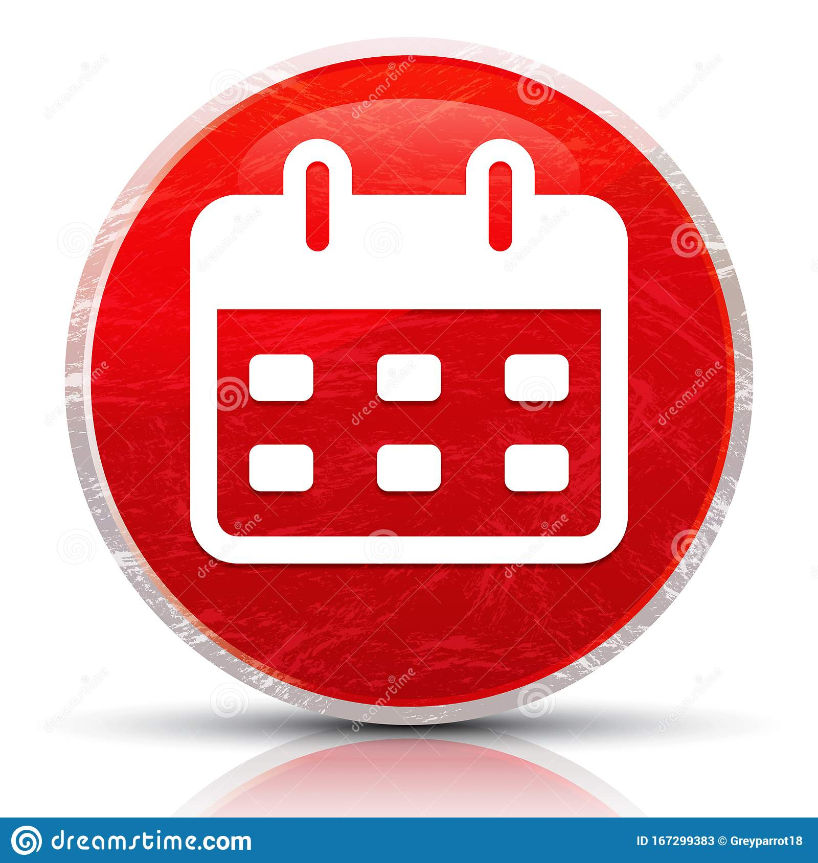 Calendar Icon Metallic Grunge Abstract Red Round Button pertaining to Calendar Icon Red