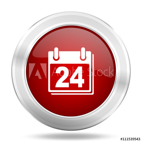 """""""Calendar Icon, Red Round Glossy Metallic Button, Web And with regard to Calendar Icon Red"""