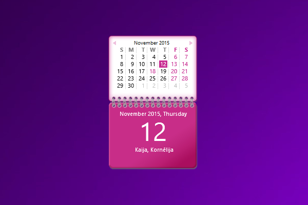 Calendar Lv Gadget For Windows 10 Http:win10Gadgets intended for Windows 10 Calendar Widget
