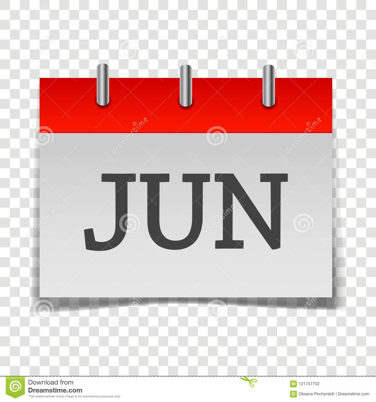 Calendar Month June Icon On Gray And Red Color On intended for Calendar Icon Red