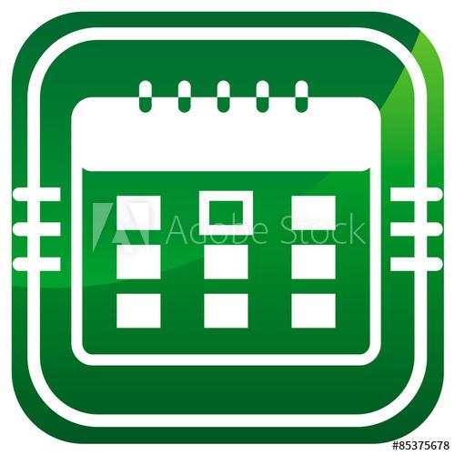 """Calendar Organizer  Green Icon"" Stock Image And Royalty pertaining to Calendar Icon Green"