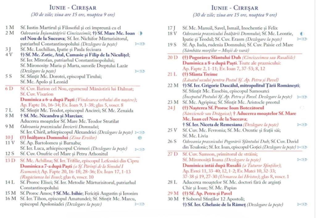 Calendar Ortodox 2021  Sărbători Religioase Din Fiecare throughout Calendar Ortodox Mai 2021