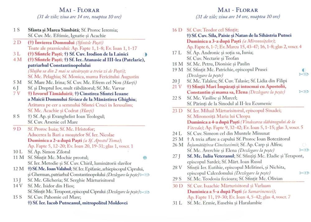 Calendar Ortodox  Mai  Patriarhia.ro pertaining to Calendar Ortodox Mai 2021