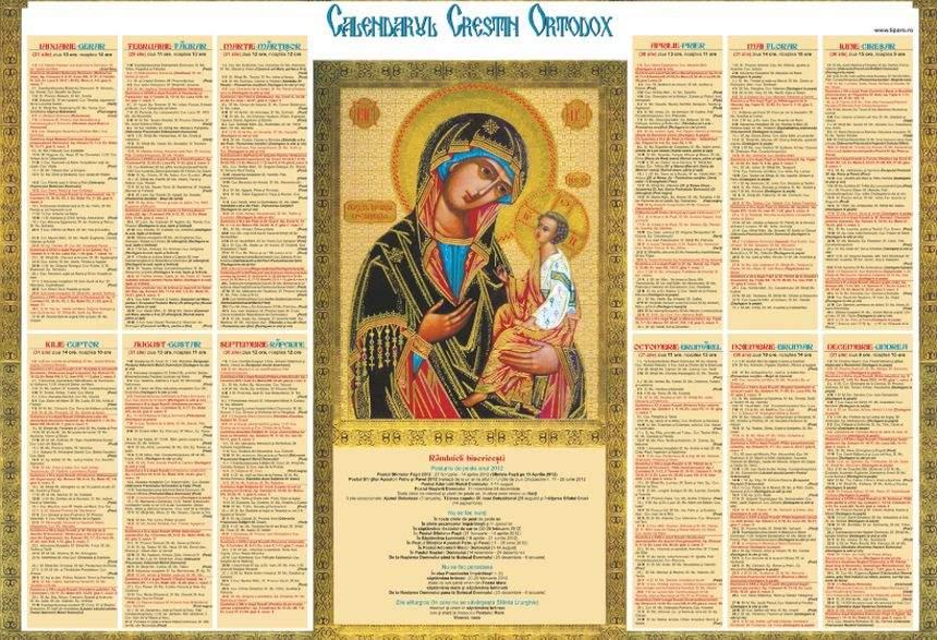 Calendar Ortodox, Miercuri, 17 Aprilie. Cea Mai Puternică in Calendar Ortodox Mai 2021