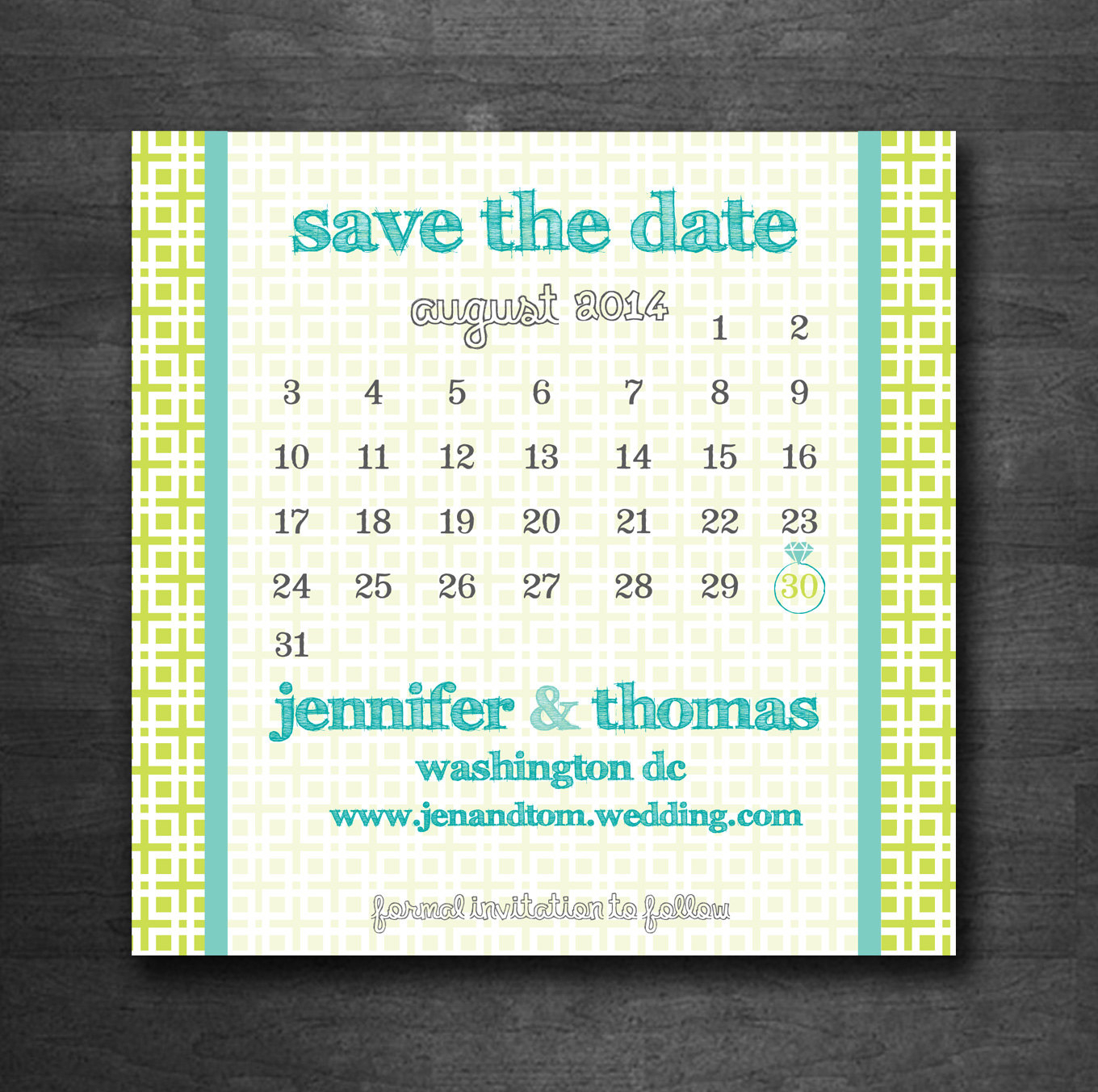 Calendar Square Diy Printable Save The Date Postcard | Etsy throughout Please Save The Date In Your Calendar