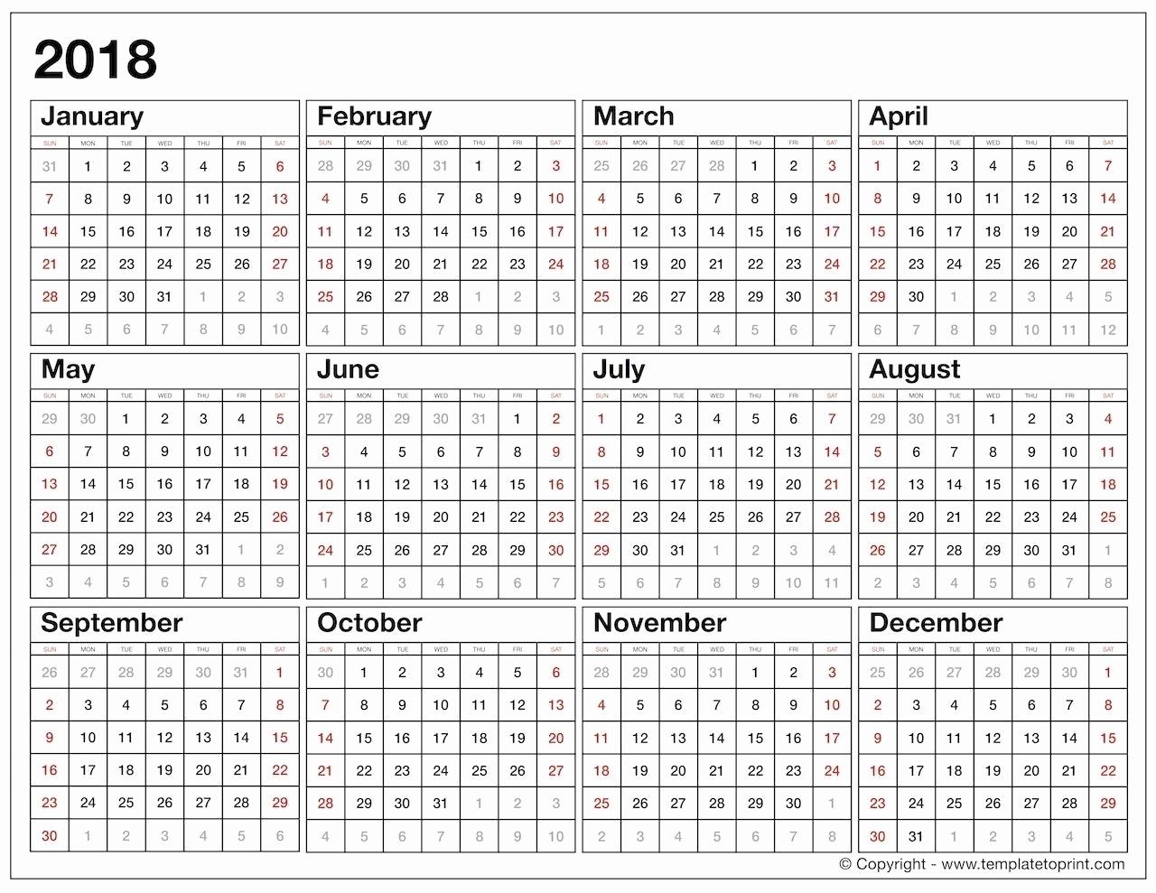 Calendar Template Year At A Glance  Calendar Inspiration regarding Blank Year At A Glance Calendar