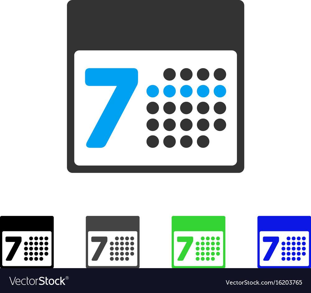 Calendar Week Flat Icon Royalty Free Vector Image with Google Calendar Icon Vector