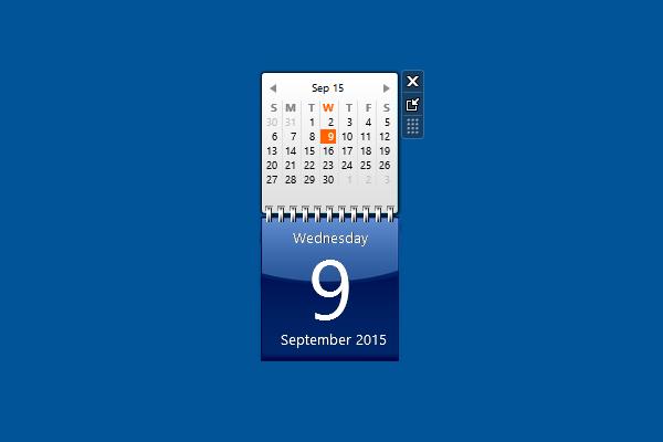 Calendar Windows 10 Gadget  Win10Gadgets throughout Windows 10 Calendar Widget