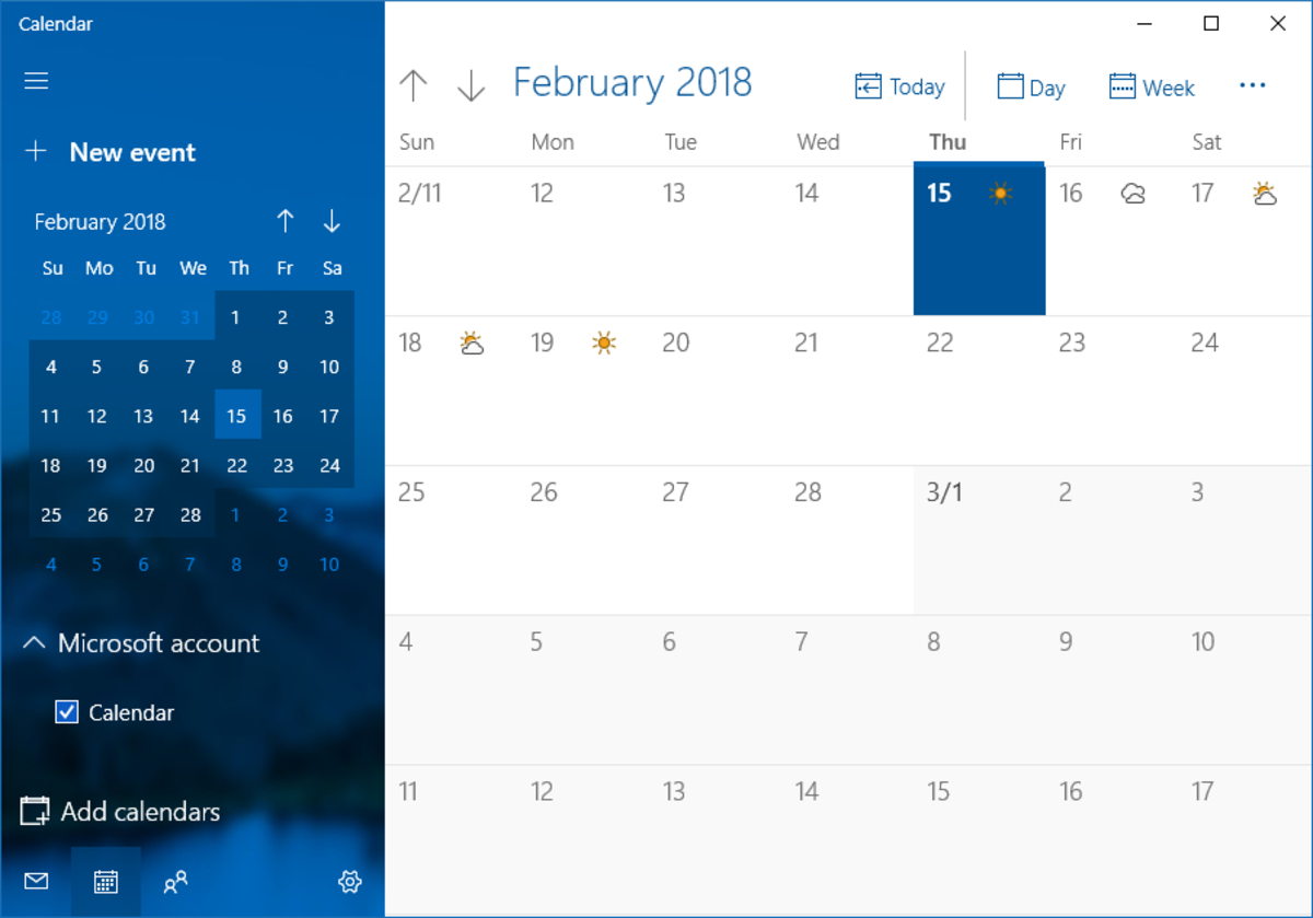 Calendar (Windows)  Wikipedia within How To Put Calendar On Desktop Windows 10