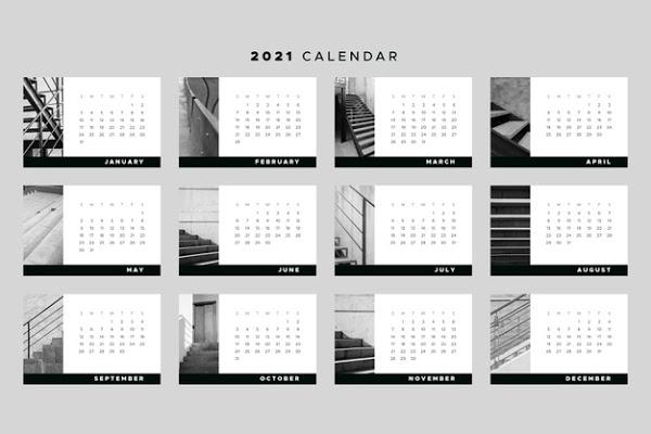 Calendario 2021 Por Meses De Bolsillo Negro regarding Calendario 2021 Con Semanas