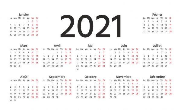 Calendario 2021 Semana Comienza Domingo Plantilla Año intended for Calendario 2021 Con Semanas