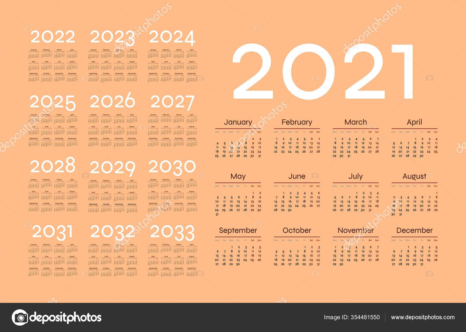 Calendario Simple 2021 Sobre Fondo Pastel Ilustración inside Calendario 2021 Con Semanas