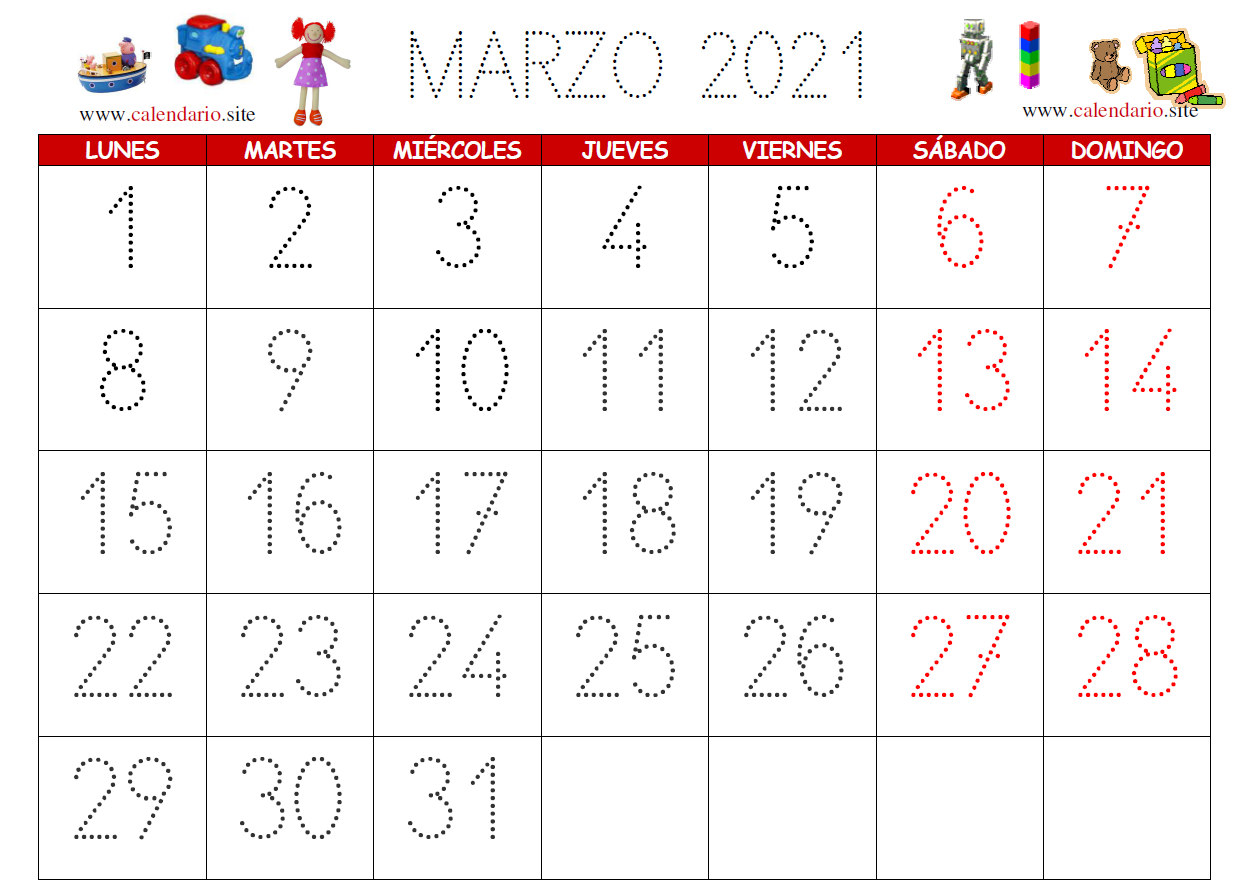 Calendarios Infantiles  Calendario inside Calendario 2021 Con Semanas