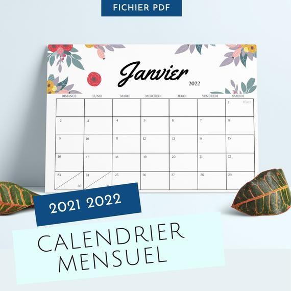 Calendrier 2021 2022  Calendrier Mural 20212022  Agenda in Calendrier À Imprimer 2021