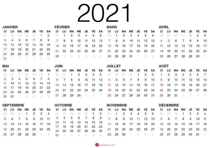 Calendrier 2021 Vierge À Imprimer En 2020 | Calendrier, A within Calendrier À Imprimer 2021