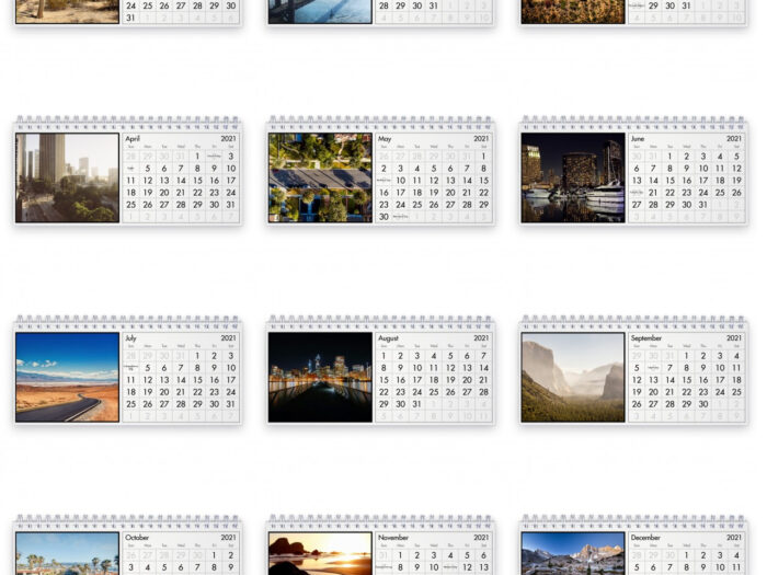 California 2021 Desk Calendar pertaining to National Food Calendar 2021