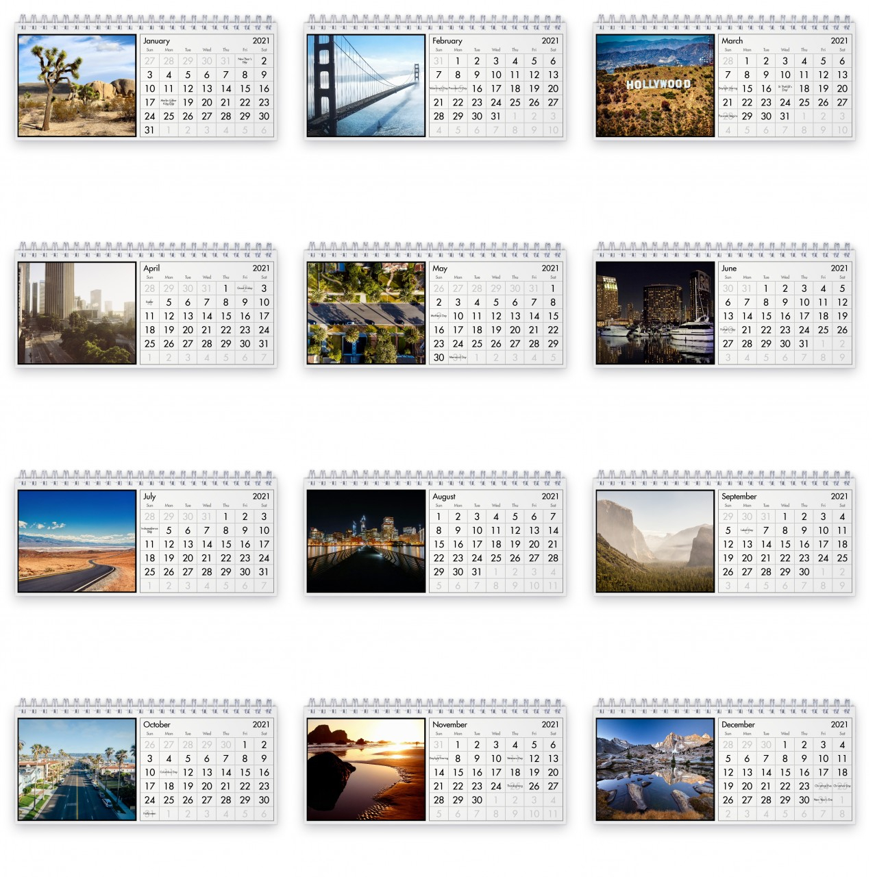 California 2021 Desk Calendar pertaining to National Food Calendar 2021