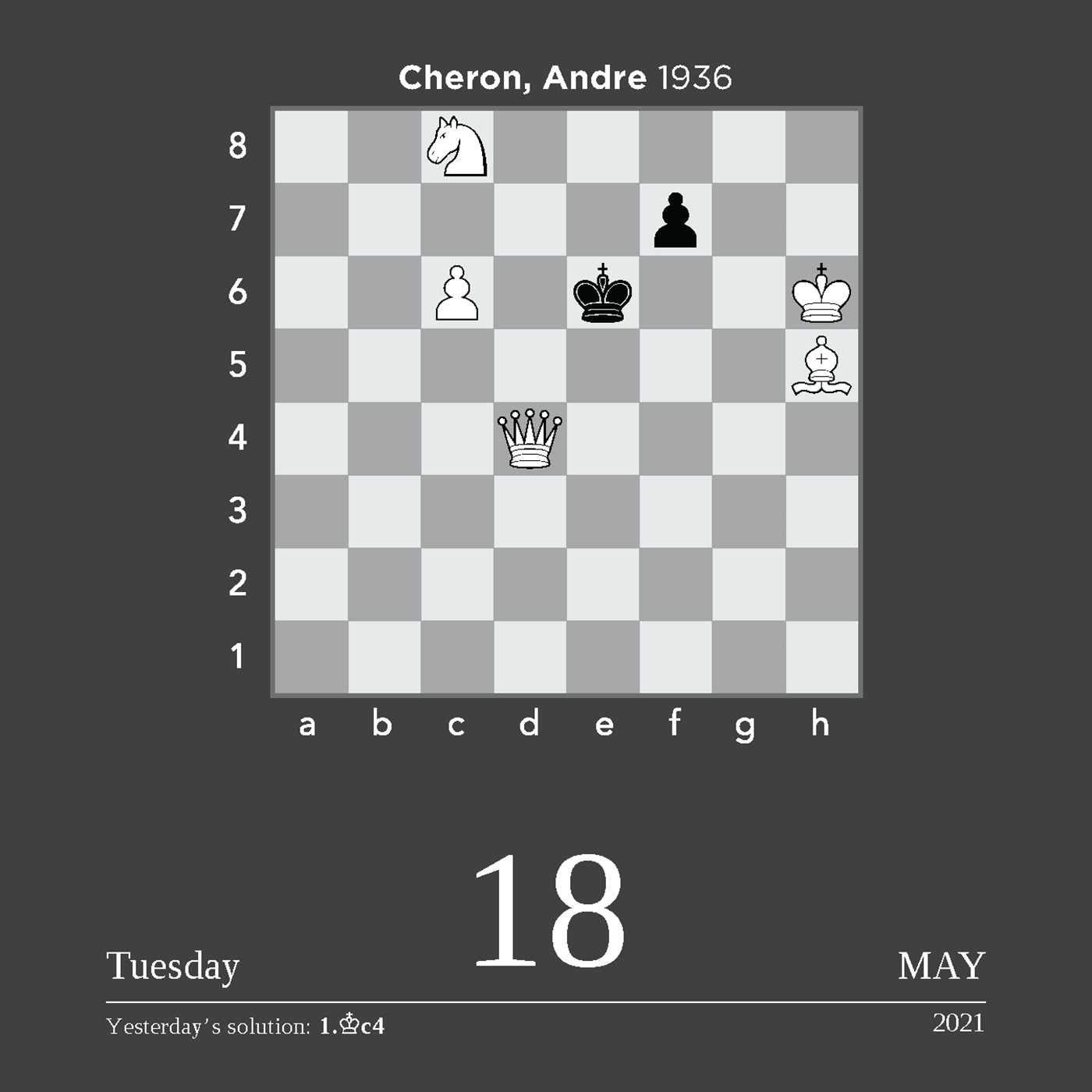 Chess 2021 Daytoday Calendar  A Year Of Chess Puzzles regarding Empires And Puzzles Events Calendar 2021