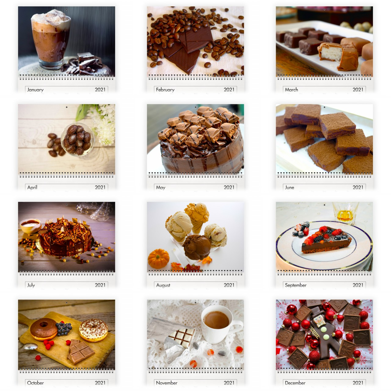 Chocolate 2021 Calendar in National Food Calendar 2021